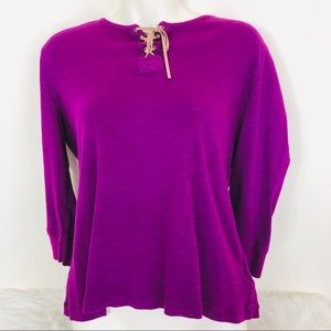 Chaps Denim Purple Longsleeve Top XL
